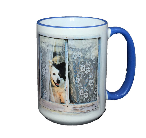 """Welcome Home"" Mug by Vickie Atkins Close"