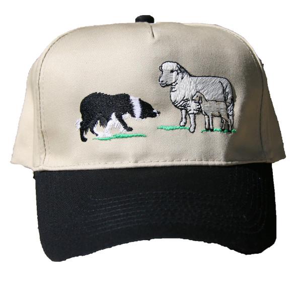 Border Collie & Sheep Cap