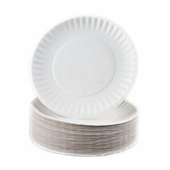 "Eilat  - 6"" White Paper Plate - 1000/Case"