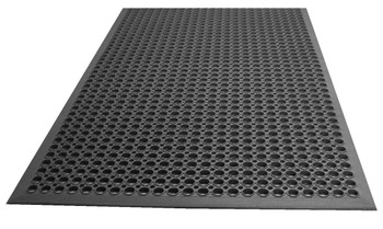 Johnson Rose - 3'X5' - Black Rubber Mat Grease Resist - 1 Unit/Each