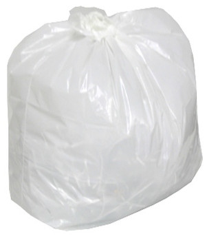"""Amber - 26"""" x 36"""" Regular - White Garbage Bag - Individually Folded - Dispenser Box - 250/Case"""