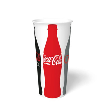 International Paper - DMT-24 - 24 oz Coca Cola Print II, 24 oz Cold Paper Cups - 1000/cs