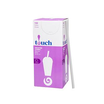"""Touch - 92-0879 - 8"""" Super Jumbo Straws White - 9x150"""