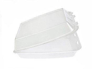 """CKF - FST2 - Foam Hinged Container 8.4""""X8.5""""X2.7"""" - 200/Case"""