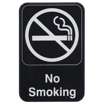 "Winco - SGN-601 - 6""X9"" No Smoking Sign - 1 Unit/Each"