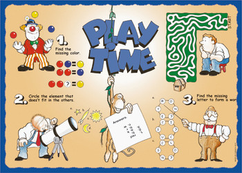 Sanfacon - 510 - Play Time Placemats - 1000/Pack