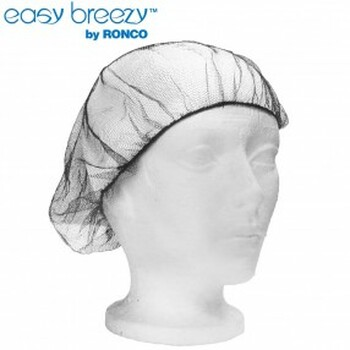 """Ronco 1817BR - 18"""" Brown Hairnets Polyester Mesh 10x100"""