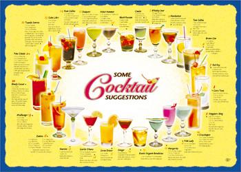 Sanfacon - 539 - Cocktail Placemats - 1000/Pack