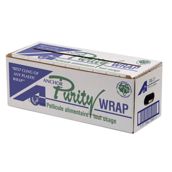 """Purity - PW-11 - 11"""" x 2500' Food Wrap - 1 Roll with Dispenser Cutter Box"""