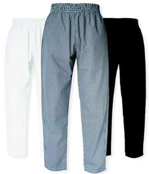 CI21902 Small - **Black** Chef Pants Small - Each