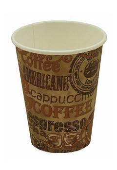 Pronto - 1H04R - 4 oz Single Wall Hot Paper Cup, Classic Design - 1000/Case