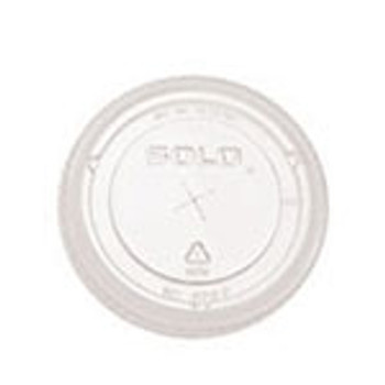 Dart Solo - 662TS - X-Slot Flat Clear Lid for TP12 - 1000/Case