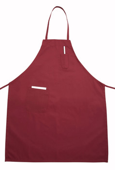 Winco - BA-PBG - Burgundy / Red Full Size Aprons (Cotton/Poly Blend) - 1/Each