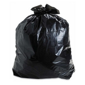 AMBER 30 x 38 Strong  Black Garbage Bags 200/cs