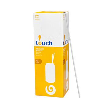 "Touch - 92-0369 - 10"" Drinking Straw White - 9x500"