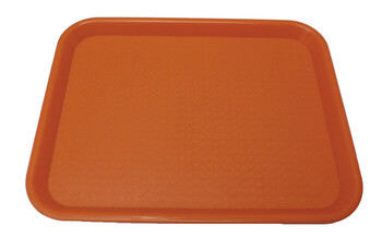 "Johnson Rose - 86127 - Plastic Food Service Tray Orange 12"" X 16"" - Each"