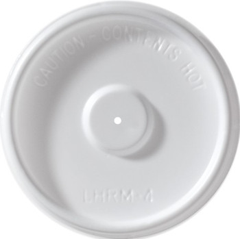 International Paper - LHRM-4 - 4 oz Flat Vented Lid - 1000/cs