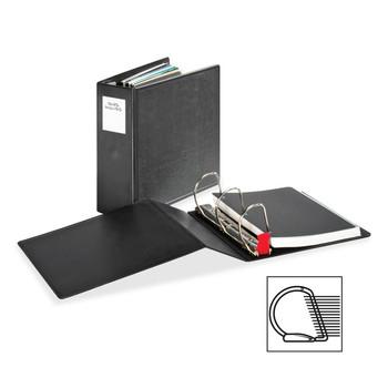 "Cardinal SuperLife EasyOpen Locking Slant-D Ring Binder - 4"" Binder Capacity - Letter - 8 1/2"" Width x 11"" Length Sheet Size - 775 Sheet Capacity - 3 x D-Ring Fastener - Polypropylene - Black - 1 Each"