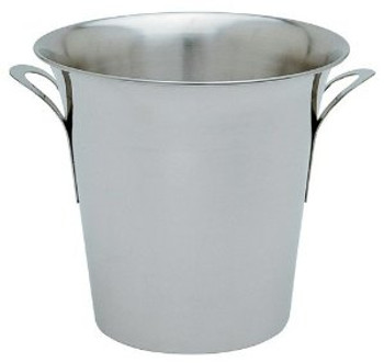 "JR - 7894 - Champagne/Wine Bucket - 8.5"" H Stainless Steel"