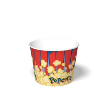 International Paper - SFR-85 - 85 oz Popcorn Paper Bucket, Popcorn Design - 300/cs