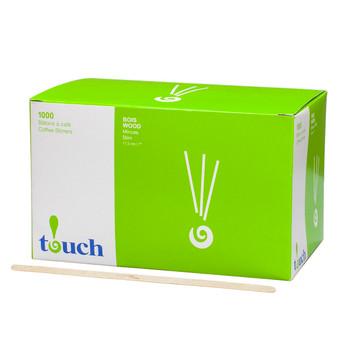 """Touch - 80-414N - 7"""" Wooden Stir Sticks - 10X1000/Case"""