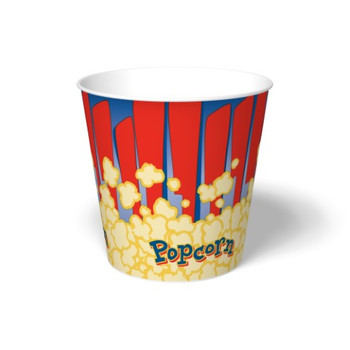International Paper - SFR-170 - 170 oz Popcorn Paper Bucket, Popcorn Design - 150/cs