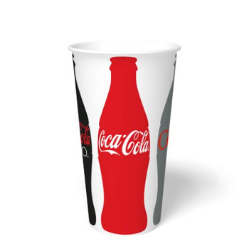 International Paper - DMR-32 - 32 oz Coca Cola Print II, 32 oz Cold Paper Cups - 500/cs