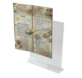 "Winco - ATCH-811 - 8""x11"" Acrylic Table Sign Holder - Each"