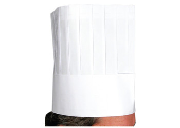 "Winco - DCH-9 - 9"" Height Paper Chef Hat - 10/Pack"