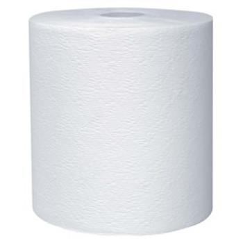 "Kleenex - 50606 - Hard Paper Towel Rolls, 1.75"" Core, 7.9"" Diameter, 600' White, 6 Rolls/case"