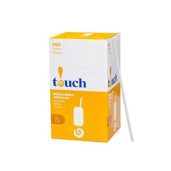 "Touch - 92-0349 - 6"" Drinking Straw White - 9x500"