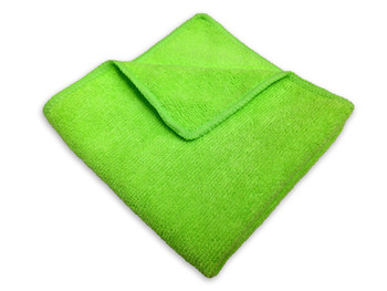 Amber - 14 x 14 Green - Micro Fibre Cloth - 10/Pack