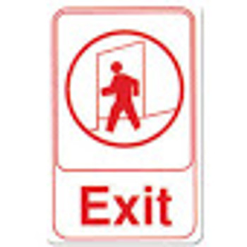 "Winco - SGN-681W - 6""X9"" Exit Sign"