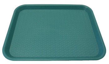 "Johnson Rose - 86124 - Plastic Food Service Tray Green 12"" X 16"" - Each"