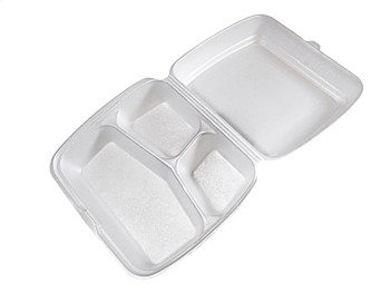 """CKF - FST3 - Foam Hinged Container 9.2""""X7.7""""X3.2"""" - 200/Case"""