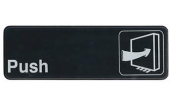 """Winco - SGN-301 - 3""""X9"""" Push - 1 Unit/Each"""