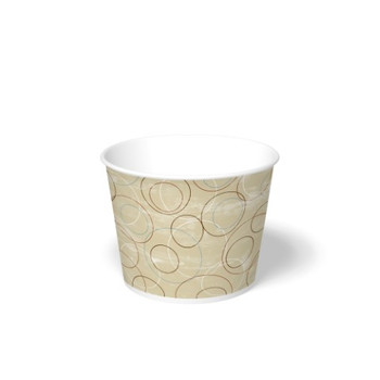 International Paper - DFM-85 - 85 oz Champagne Print, Paper Food Bucket - 200/cs
