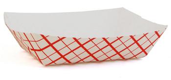 SCT- 409 - 8 Oz Red Checker Tray #50 - 1000/Case