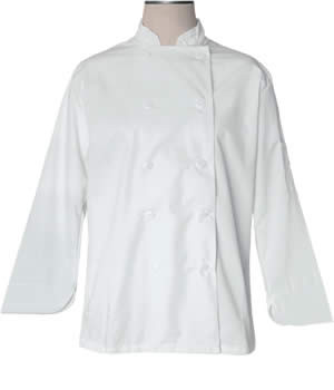 CI21809 Large - Bodyguard White Chef Coat Large - Each