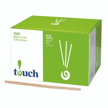 """Touch - 80-411N - 5.5"""" Wooden Stir Sticks - 10X1000/Case"""