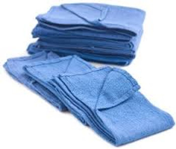 "Huck Blue Towels - 16""x24"""