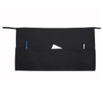 Winco - WA-1221 - Black Waist Apron 3-Pocket - 1/Each