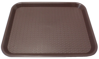 "Johnson Rose - 86123 - Plastic Food Service Tray Brown 12"" X 16"" - Each"