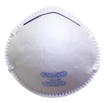 Ronco - Regular Style Particulate Respirators (White) 12x20