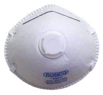 Ronco - Valved Style Particulate Respirators (White) 12x10