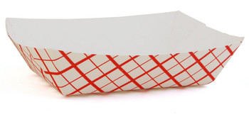 SCT - 417 - 2 Lb Red Checker Food Tray #200 - 1000/Case