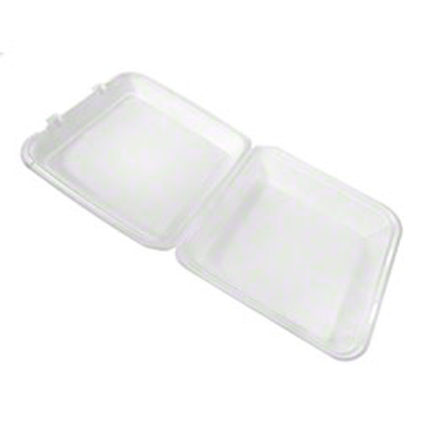 """CKF - FST6 - Foam Hinged Container 9.4""""X10""""X3"""" - 200/Case"""