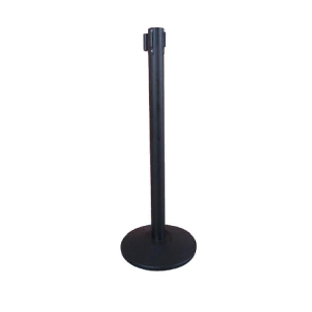 "Winco - CGS-38K - 36"" Stanchion Post, Black 6.5 Feet Retractable, Each"