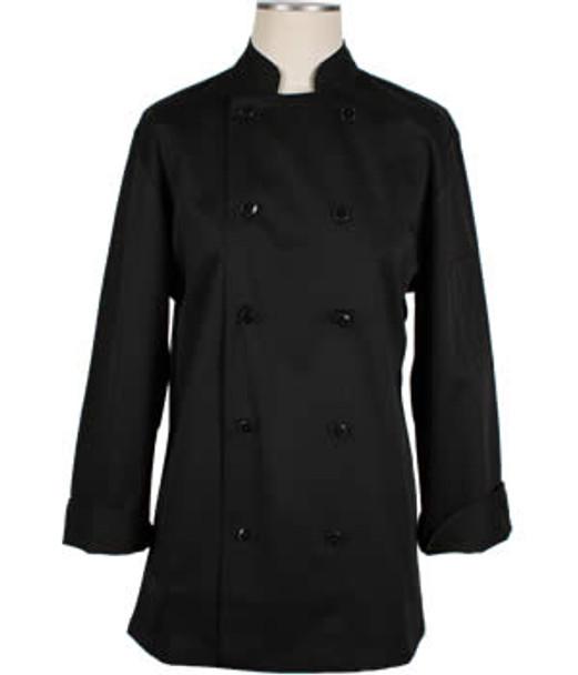 CI22139 XL - Bodyguard Black Chef Coat Extra Large - Each