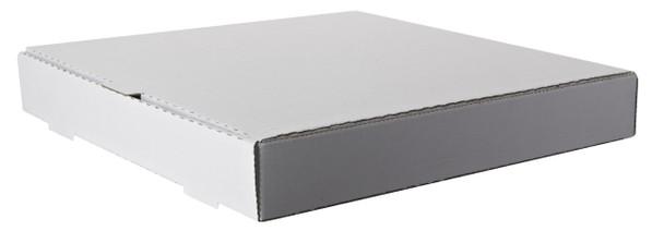 """Amber - 18"""" x 18"""" Plain White Pizza Box - 50/Case"""